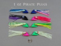 Original 1 Oz Pirate Plugs--Rigged and Unrigged