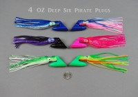 4 Oz Deep Six Pirate Plugs--Rigged and Unrigged