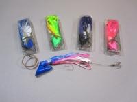 Deep Six Pirate plug 4oz rigged Blue/Pink/White