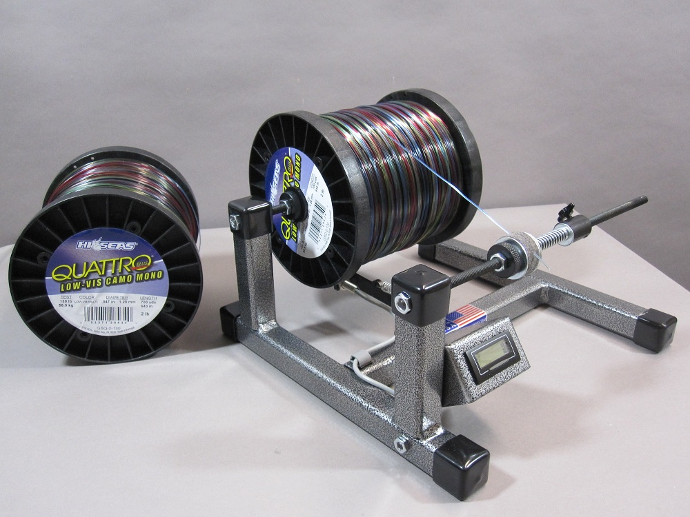 Line winder with digital line counter south chatham tackle for Fishing line winder