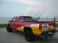 Truck rod holder