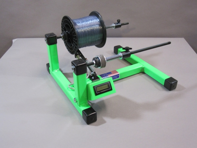 Line winder green with digital line counter south for Fishing line winder