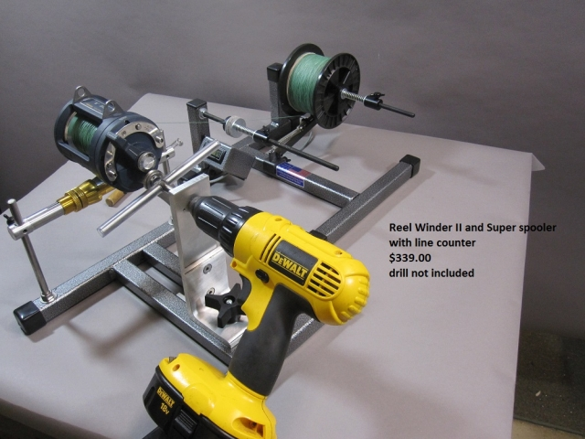Reel winder ii with super spooler line counter for Fishing line winder