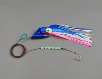 8 oz Deep Six Pirate Plug Pink/Blue/White Rigged