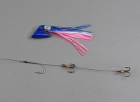 Pirate Plug Blue/Pink/White Rigged PP-023